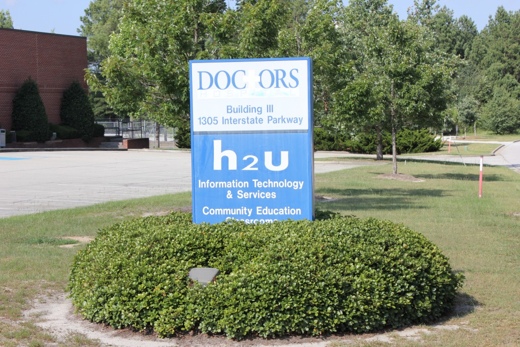 H2U Building Road Sign 06-21-2015