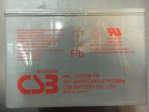 HRL 12330W FR CSB Battery Label 07-05-2016